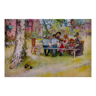 Breakfast Under The Birch - Carl Larsson Print