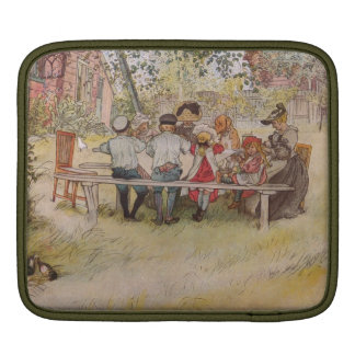 Breakfast Under the Birch Trees Sleeves For iPads