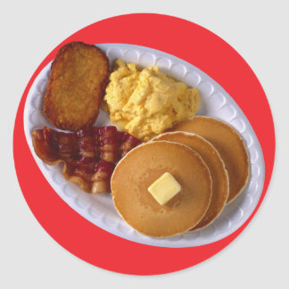 Breakfast with Bacon Classic Round Sticker