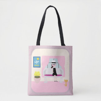Breakfast With Stephanie Cartoon Tote Bag