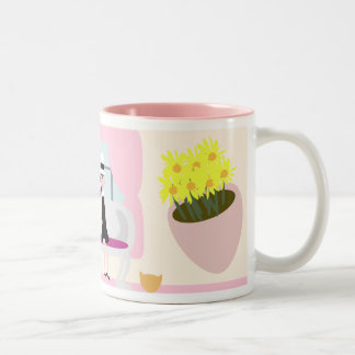 Breakfast with Stephanie Deluxe Two-Tone Mug