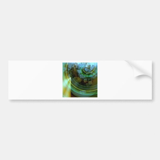Breaking Apart Abstract Bumper Sticker