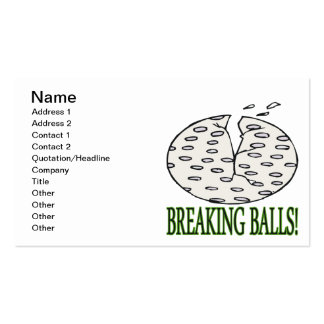 Breaking Balls Pack Of Standard Business Cards