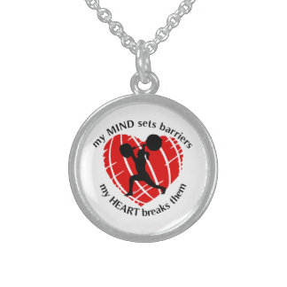 Breaking Barriers Lady Powerlifter Necklace