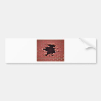 Breaking Brick Wall Hole Bumper Sticker