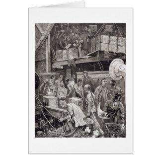Breaking Bulk on Board a Tea Ship in the London Do Card