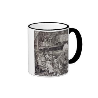 Breaking Bulk on Board a Tea Ship in the London Do Coffee Mugs