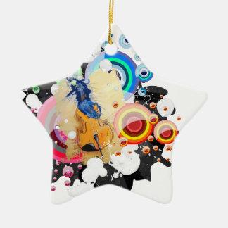 Breaking free ceramic star decoration