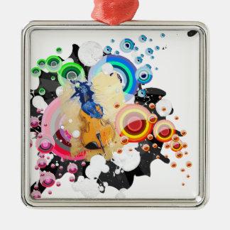 Breaking free Silver-Colored square decoration