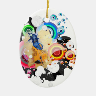Breaking free ceramic oval decoration