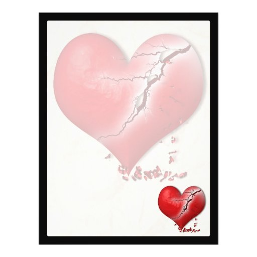 Breaking Heart Custom Flyer