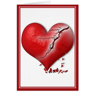 Breaking Heart Greeting Card