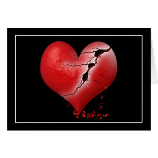 Breaking Heart Greeting Card