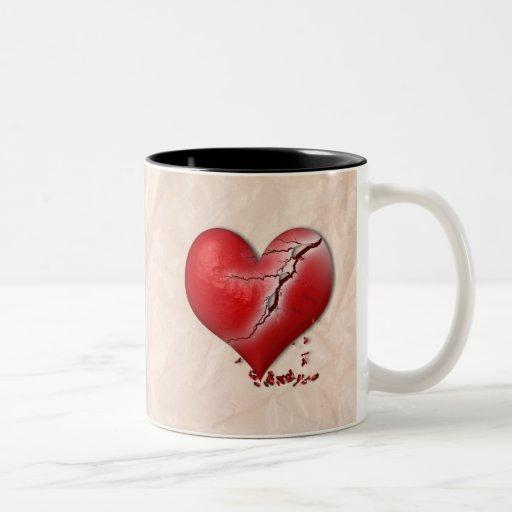 Breaking Heart Mug