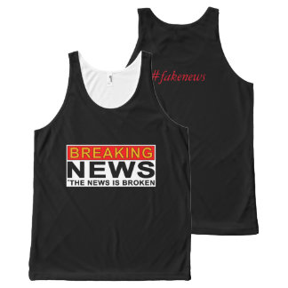 breaking news All-Over print tank top