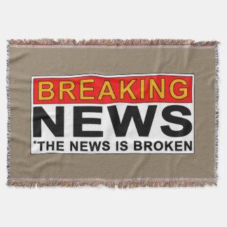 breaking news throw blanket