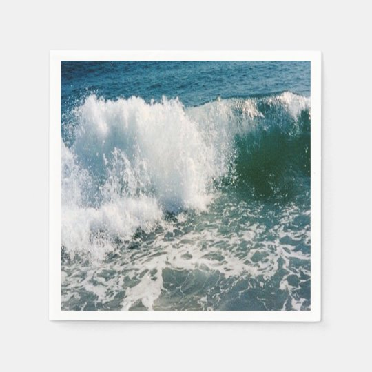 Breaking Ocean Wave Paper Napkins