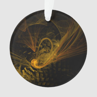 Breaking Point Abstract Art Acrylic Circle Ornament