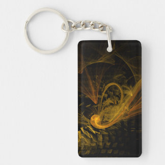Breaking Point Abstract Art Key Ring