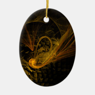 Breaking Point Abstract Art Oval Ornament