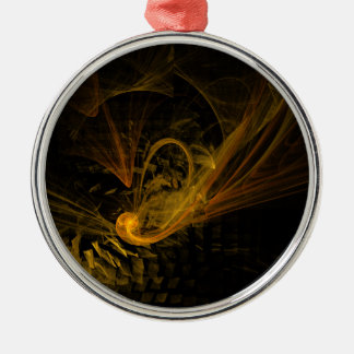 Breaking Point Abstract Art Round Christmas Ornament