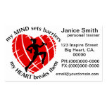 Breaking Sports Barriers Personal Trainer Business Pack Of Standard Business Cards