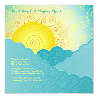 Breaking Sun Post Wedding Brunch 13 Cm X 13 Cm Square Invitation Card