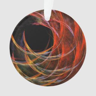Breaking the Circle Abstract Art Acrylic Circle Ornament