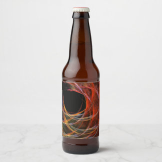 Breaking the Circle Abstract Art Beer Bottle Label