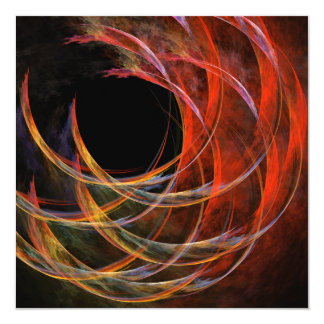 Breaking the Circle Abstract Art 5.25x5.25 Square Paper Invitation Card