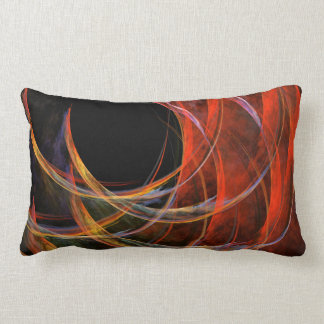 Breaking the Circle Abstract Art Lumbar Pillow