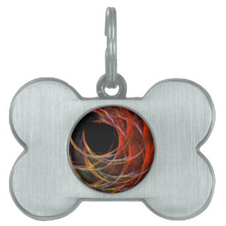 Breaking the Circle Abstract Art Pet ID Tag