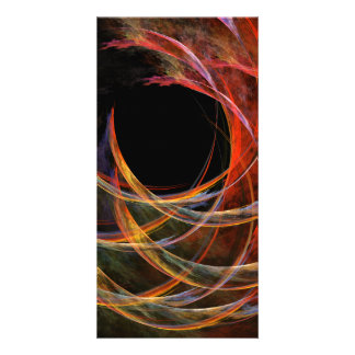 Breaking the Circle Abstract Art Photo Card