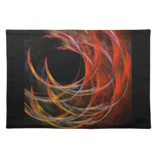 Breaking the Circle Abstract Art Placemat