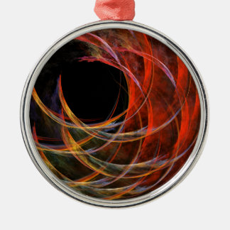 Breaking the Circle Abstract Art Round Christmas Ornament