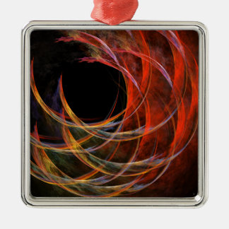 Breaking the Circle Abstract Art Square Christmas Ornament