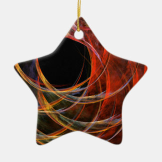 Breaking the Circle Abstract Art Star Ornament