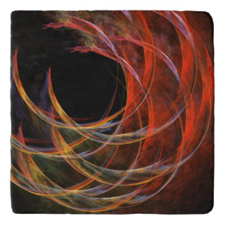 Breaking the Circle Abstract Art Stone Trivets
