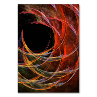 Breaking the Circle Abstract Art Table Card