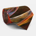 Breaking the Circle Abstract Art Tie
