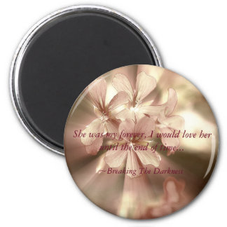 Breaking The Darkness Magnent 6 Cm Round Magnet