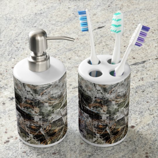 Breaking Times Soap Dispenser And Toothbrush Holder
