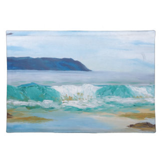 Breaking Wave by KatGibsonArt - love the beach! Placemat
