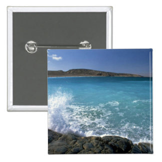 Breaking wave, Hudson Bay, Canada Pinback Buttons