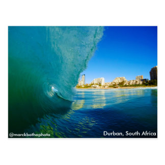Breaking Wave in Durban, South Africa. Marck Botha Postcard