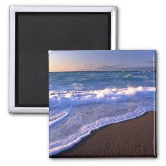 Breaking waves, Hudson Bay, Canada Fridge Magnet