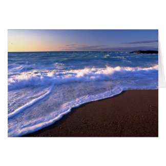 Breaking waves, Hudson Bay, Canada Greeting Card