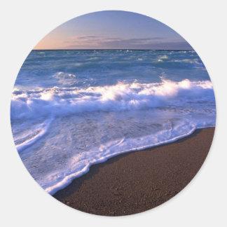 Breaking waves, Hudson Bay, Canada Classic Round Sticker
