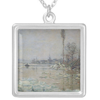 Breakup of Ice, 1880 Silver Plated Necklace