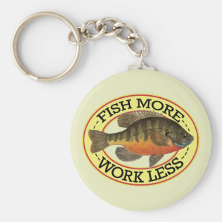 Bream, Bluegill Fishing Basic Round Button Key Ring